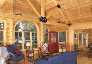 Moosehead Cedar Log Home - Kennebec Interior